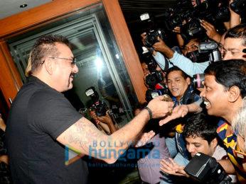 Sanjay Dutt celebrates birthday with media