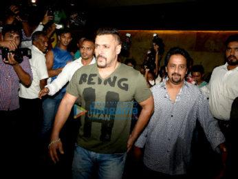 Salman Khan & family snapped at 'Sultan' screening at Lightbox