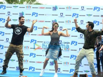 Varun Dhawan, Jacqueline Fernandez & John Abraham promote their film 'Dishoom' in New Delhi