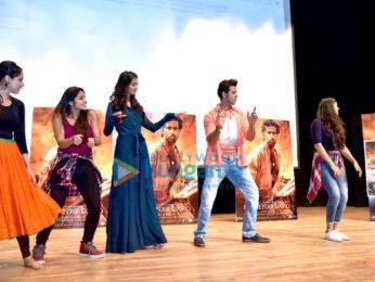 Cast of the film 'Mohenjo Daro' promote their film at Gargi College, New Delhi