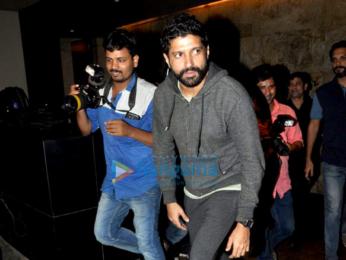 Farhan Akhtar, Ritesh Sidhwani & Sanjay Kapoor snapped at Lightbox
