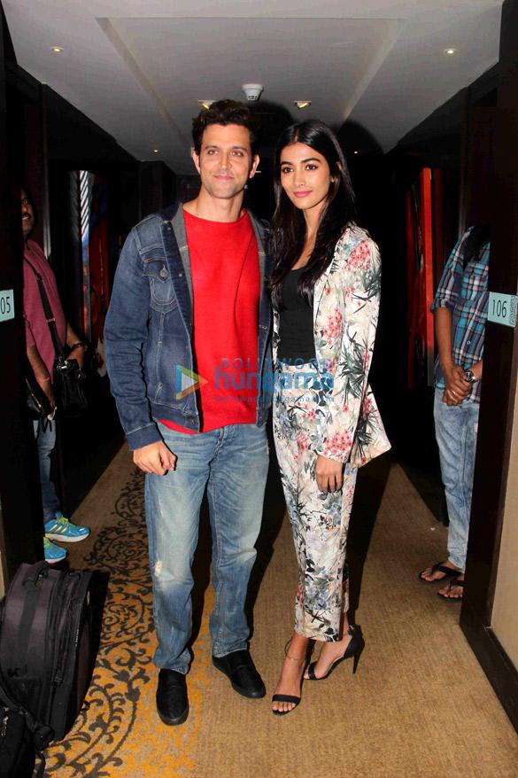 Hrithik Roshan & Pooja Hegde at 'Mohenjo Daro' promotions