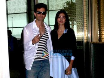 Hrithik Roshan & Pooja Hegde leave for Hyderabad to promote 'Mohenjo Daro'