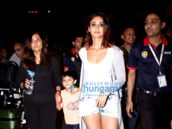 Ileana DCruz snapped as she receives some guest at the airport