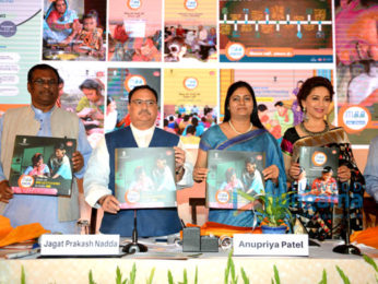 Madhuri Dixit graces the launch of Breastfeeding Mass Awareness Programme in Delhi