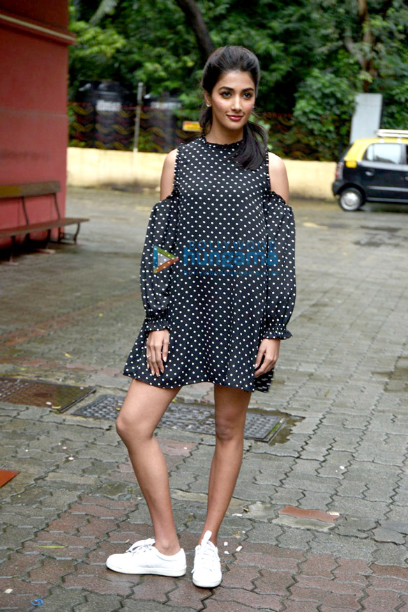 Pooja Hegde snapped at 'Mohenjo Daro' promotions