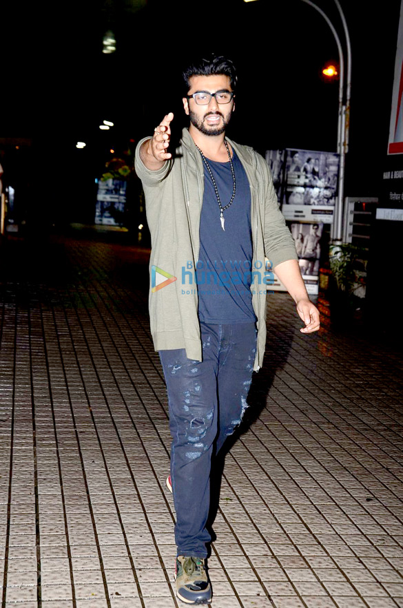 Arjun Kapoor snapped post a movie screening at PVR