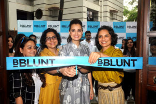 Dia & Adhuna at the launch of BBlunt Salon
