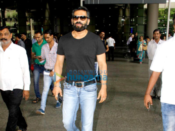 Harshvardhan Kapoor, Saiyami Kher & Suniel Shetty snapped at the airport