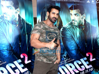 John Abraham & Sonakshi Sinha at the trailer launch of 'Force 2'