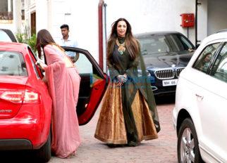 Malaika Arora Khan visits Shilpa Shetty's house for Ganesha celebrations