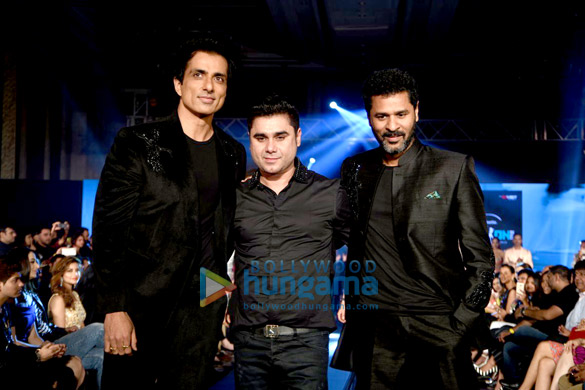 Prabhu Dheva & Sonu Sood walk the ramp for Rajat Tangri