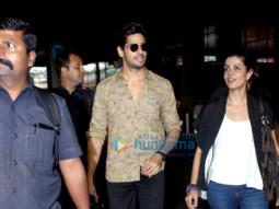 Sidharth Malhotra & Katrina Kaif return from Delhi promotions of 'Baar Baar Dekho'