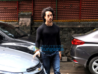 Tiger Shroff snapped entering Excel Entertainment office