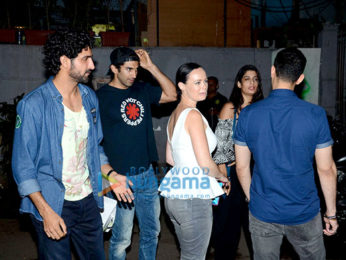Aditya Roy Kapur snapped with friends post dinner at Monkey bar
