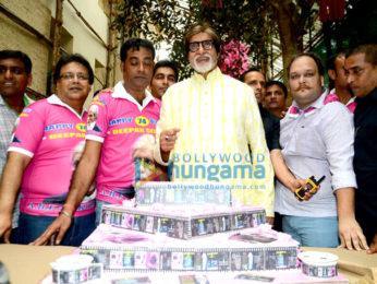Amitabh Bachchan celebrates his 74th birthday with the media
