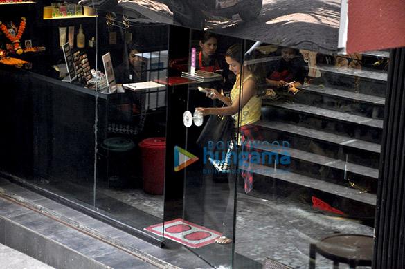 Amrita Arora snapped post nail spa in Bandra