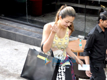 Amrita Arora snapped post nail spa in Bandra