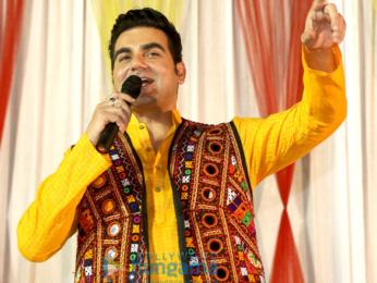 Arbaaz Khan promotes 'Tera Intezaar' at special Navratri celebrations in Gandhidham