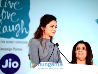 Deepika Padukone at a 'Mental Awareness' campaign launch by her NGO 'Live Love Laugh' in Delhi
