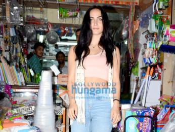Elli Avram snapped shopping in Bandra