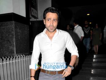 Emraan Hashmi snapped with Director Kunal Deshmukh post dinner at Hakassan