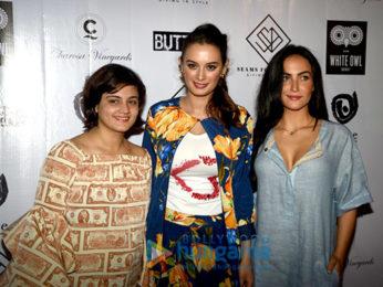 Evelyn Sharma, Elli Avram and Gabriella Demetriades attend a Garage Sale for a social cause