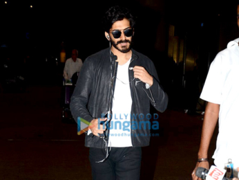 Harshvardhan Kapoor and Saiyami Kher snapped arriving back after the London premiere of Mirzya