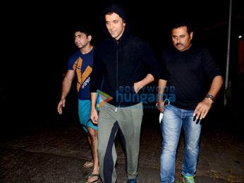 Hrithik Roshan snapped post jogging in Juhu