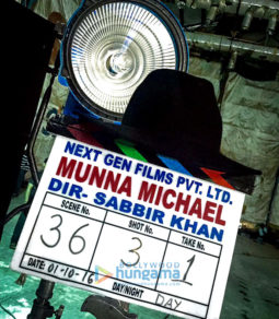 On The Sets Of The Movie Munna Michael
