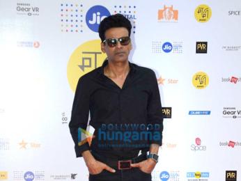 Manoj Bajpayee & Pooja Chopra promote short film 'Ouch' at MAMI 18th Mumbai Film Festival