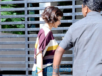 Prachi Desai snapped sporting her look from Rock On!! 2 on the sets of the movie