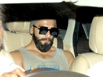 Ranveer Singh snapped post meeting Sanjay Leela Bhansali