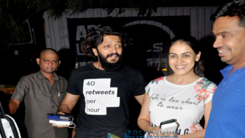 Riteish Deshmukh, Genelia Dsouza & Mushtaq Sheikh snapped at Starbucks