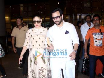 Saif Ali Khan & Kareena Kapoor Khan return from Hyderabad