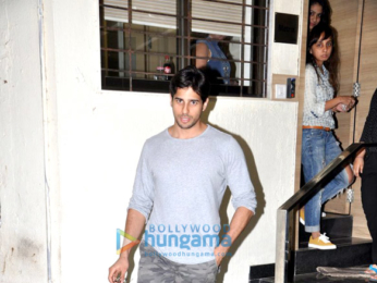 Sidharth Malhotra snapped post meeting in Bandra