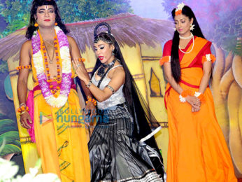 Sofia Hayat plays Surpnakha in Ramleela at the Red Fort in New Delhi