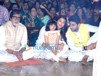 The Bachchan's grace the Durga Ashtami puja in Mumbai