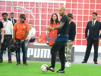 Thierry Henry, Dino Morea, Neha Dhupia, Harshvardhan Kapoor grace friendly football match by Puma