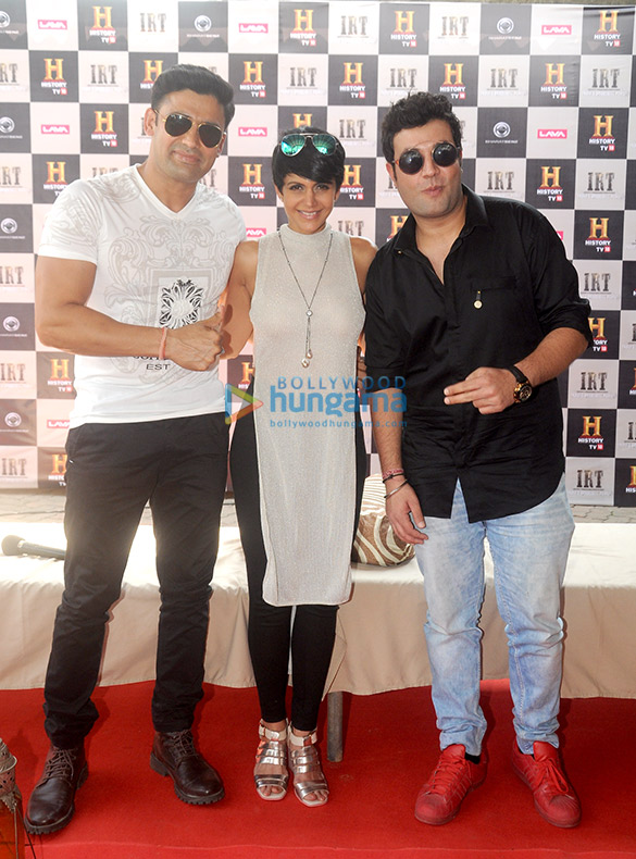 Varun Sharma, Mandira Bedi and Sangram Singh grace History channel's event for the show Ice Road Truckers