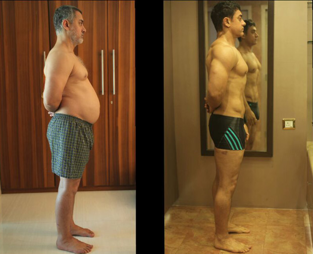 Aamir Khan's shocking transformation from 'fat' to 'fit' for Dangal