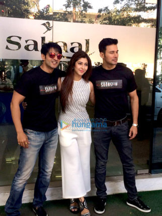 Cast of the film 'Saansein - The Last Breath' snapped in Pune promoting their film