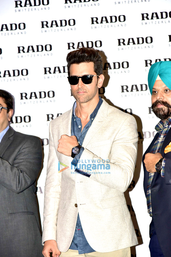 Hrithik Roshan at the launch of Rado's new watch in Delhi