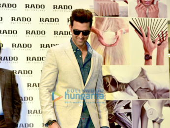 Hrithik Roshan at the launch of Rado's new watch in Delhi