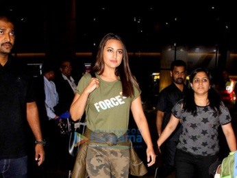 John Abraham and Sonakshi Sinha snapped at the Mumbai airport
