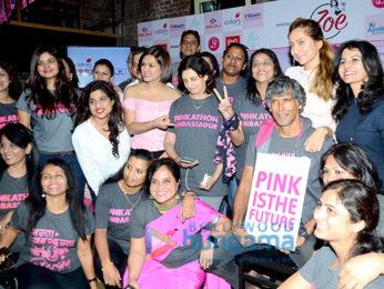 Milind Soman & Anusha Dandekar at the announcement of Fifth Edition of Pinkathon