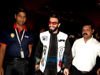 Ranveer Singh & Deepika Padukone depart for Dubai