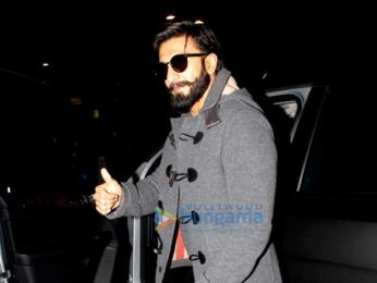 Ranveer Singh snapped as he returns from London