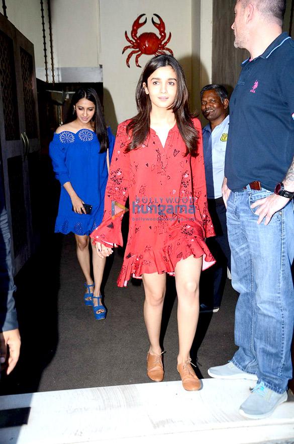 Sidharth Malhotra, Alia Bhatt & Karan Johar snapped post lunch at 'Bastian'