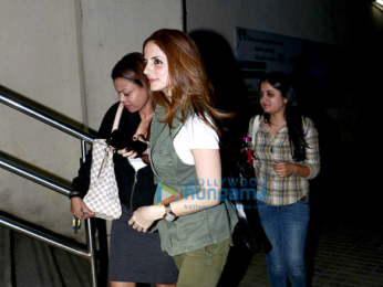 Sussanne Roshan & Madhuri Dixit snapped at Juhu PVR post movie screening